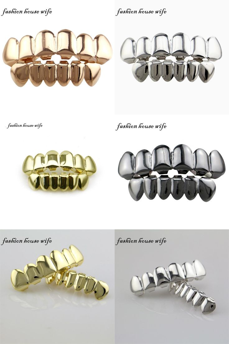 [Visit to Buy] Fashion House Wife Gold/Silver GRILLZ Top & Bottom Teeth Set Joker Mouth Teeth Caps Hip Hop Jewelry Gift  Wholesale NL0007 #Advertisement