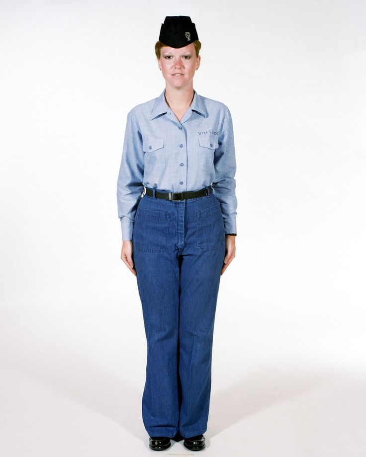 Uniform: Dungarees, Navy enlisted women, ranks E-1 through ...