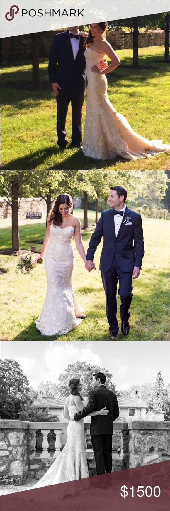 Birnbaum & Bullock Alessia Wedding Gown This champagne wedding dress has one-of-a-kind (so the designer told me) appliqué lace. The designer, Robert Bullock, is out of Manhattan & the dress was also featured in Mahattan Bride. This gorgeous lace wedding dress was worn at my September 2015 wedding. My mom has finally convinced me to part with it and I hope that it can make someone else just as happy as it made me on their special day! Robert Bullock Dresses Wedding