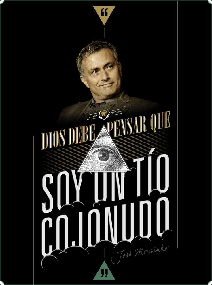 """God, he must really think I'm a great guy"". – #JoseMourinho #God #RealMadrid #Chelsea #Football #Futbol #Soccer  http://olivermag.com/frase-jose-mourinho/"