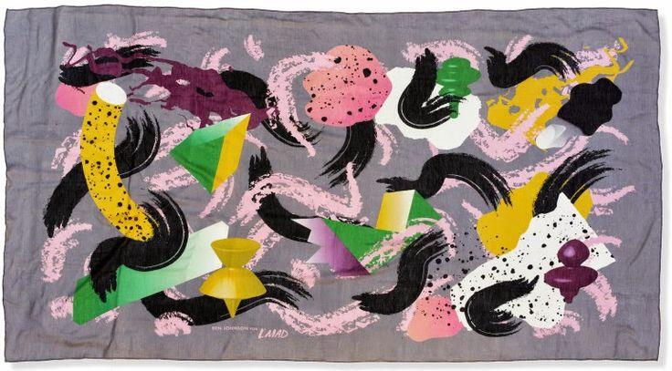 SKYSCRAPER CAPE TOWN - 20th CENTURY CLASSICS: Memphis Style Silk Scarves by Ben Johnson