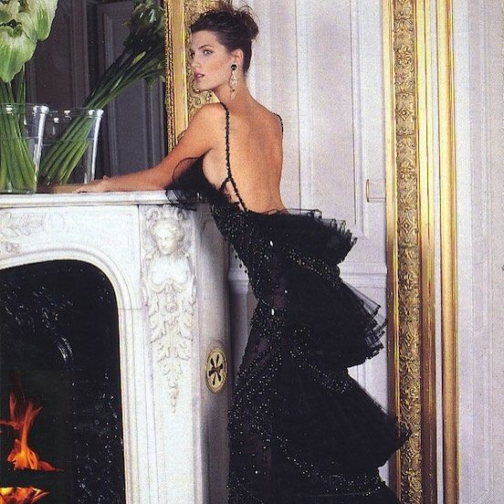 Statuesque in tiers of tulle, Laura Sanchez wears Haute Couture Fall/Winter 2001/2002 for @holacom. #OneDressADay
