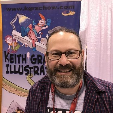 At Toronto Comicon 2018, Keith  Grachow talked about his efforts on Toronto Comics Osgoode as Gold, his contribution to Mark Twain's Niagara Book 1, his work on the second volume of the Jewish Comics Anthology, wrapping up Polybius Dreams chapter two, his upcoming work on Saltwater #3, along with his plans for future events.