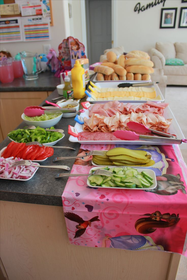 Sofia the First Birthday Party DIY Subs for lunch