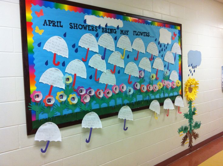 April Showers Bring May Flowers Bulletin Boards