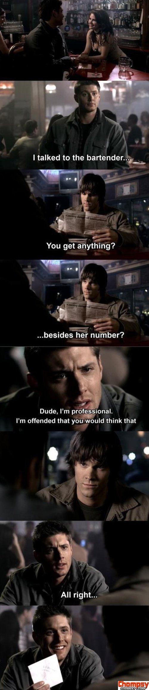 Funny Dean Winchester