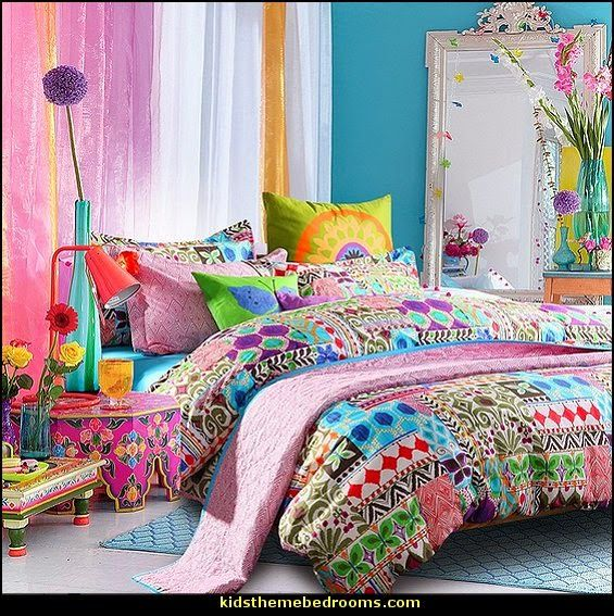 Cheer Up Your Bedroom Décor In The Bohemian Style With These Examples Of  Colorful Duvet Covers.