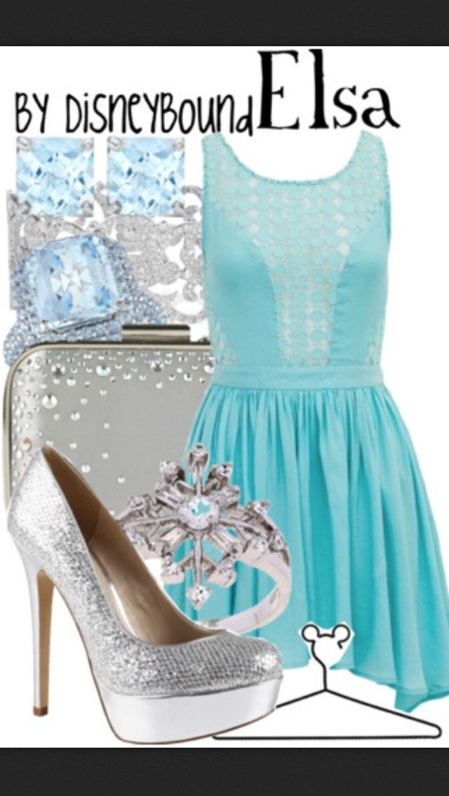 Frozen - Elsa inspired outfit. Love the dress!