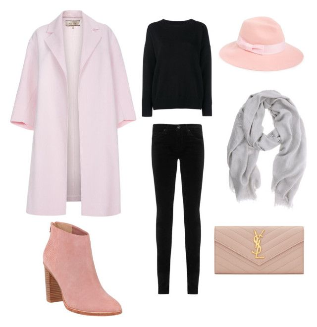 """It's cold outside"" by shevira-np on Polyvore featuring Frame Denim, Paul Smith, AG Adriano Goldschmied, Mint Velvet, Ted Baker, August Hat and Yves Saint Laurent"