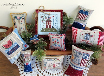 Stitching DreamsJuly Patriots, Needlework Orna, Crossstitch Pillows, Needlework Passion, Finish Ideas, July'S Americana, Crosses Stitches, July Crosses, July 2012