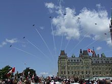 snowbirds air show in Ottawa