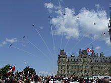snowbirds air show in Ottawa