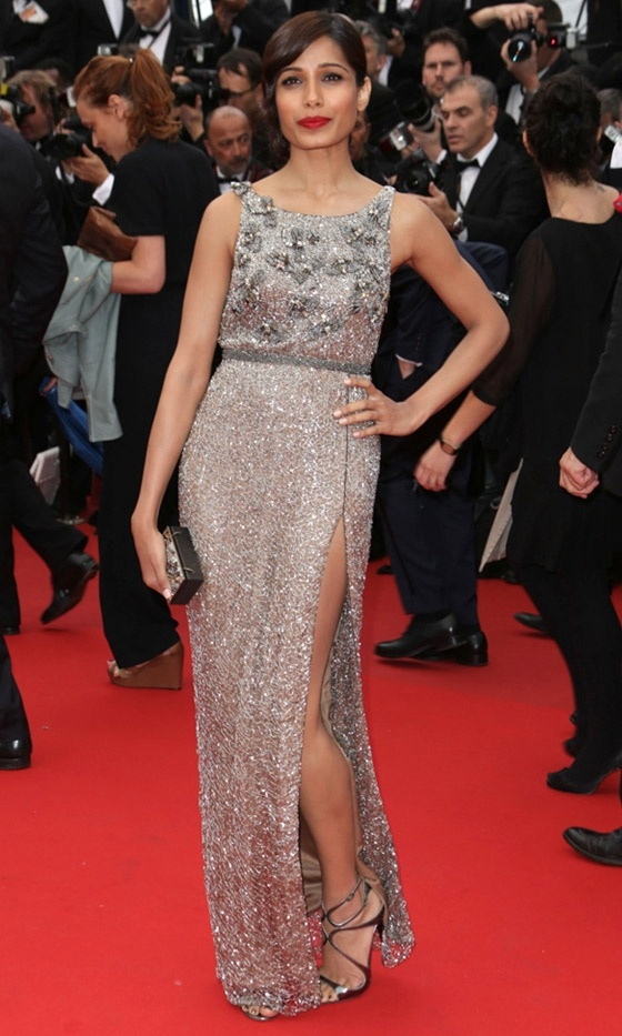 Freida Pinto At The Premiere Of 'The Bling Ring' At Cannes Film Festival, 2013