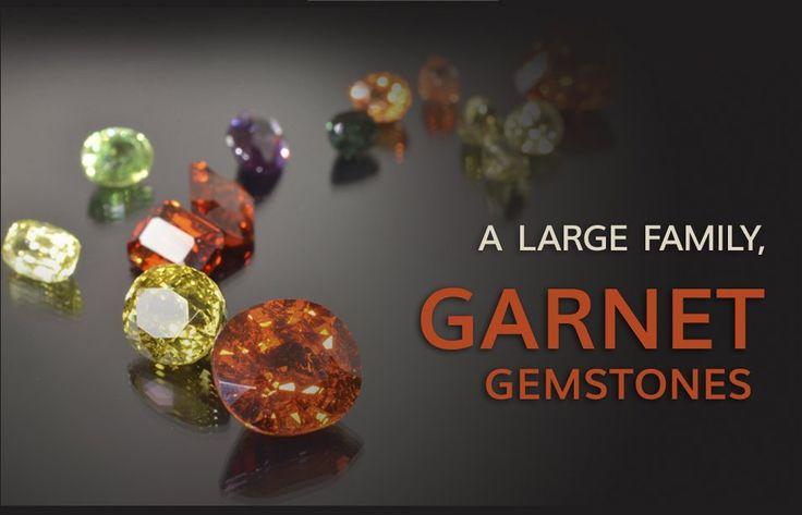 El Granate (piedra preciosa) es el nombre de un grupo mineral con una rica variedad de color: rojo, naranja, verde, amarillo, morado, rosa, marrón, azul...