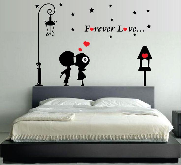 Wall Stickers Adesivi Murali Forever Love Innamorati Amore