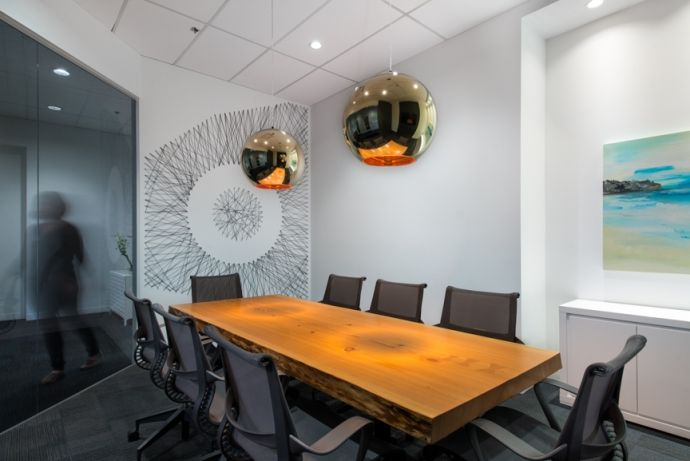 Interior design of the offices of Oakwyn Realty in Vancouver by award-winning interior design firm SSDG Interiors Inc.