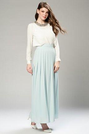 Vavist · Kadın Tekstil - Mavi Etek VAVSS150001 sadece 69,99TL ile Trendyol da