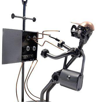 Schraubenmännchen Elektriker / Elektroinstallateur - Online Geschenkeshop mit Schraubenmännchen mit Widmung und mehr