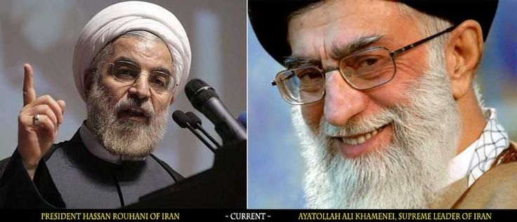 President Hassan Rouhani on the left, Ayatollah Ali Khamenei, Supreme Leader of Iran on the right.  With Iran's Supreme Leader's health in question any deal that is presented by the Obama Administration can be considered void much like the Senate open letter warning that was delivered to the current Iranian leaders. - buglecall.org