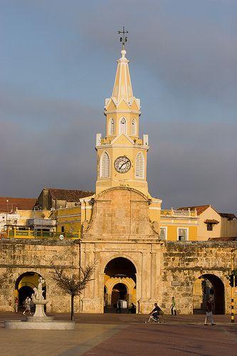 La torre del reloj, Cartagena de Indias, Colombia