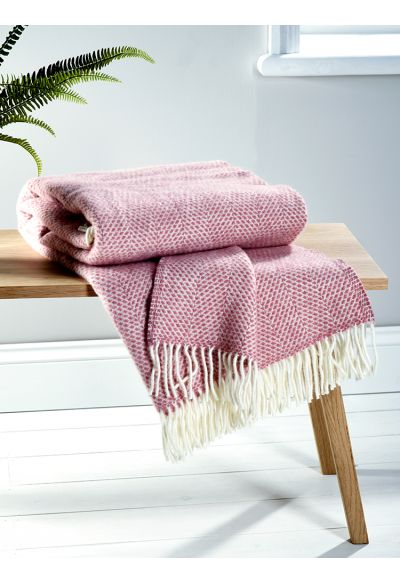 Soft Wool Throw - Blush - Indoor Living