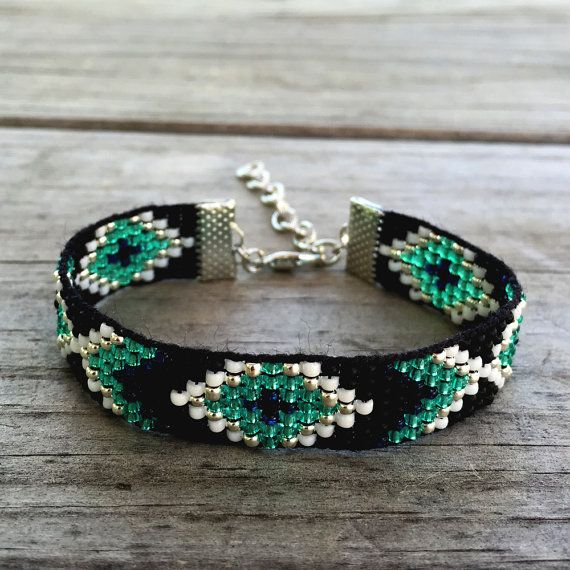 Handmade Transluscent Jade Beaded Bracelet by GOINGSNAKESILVER