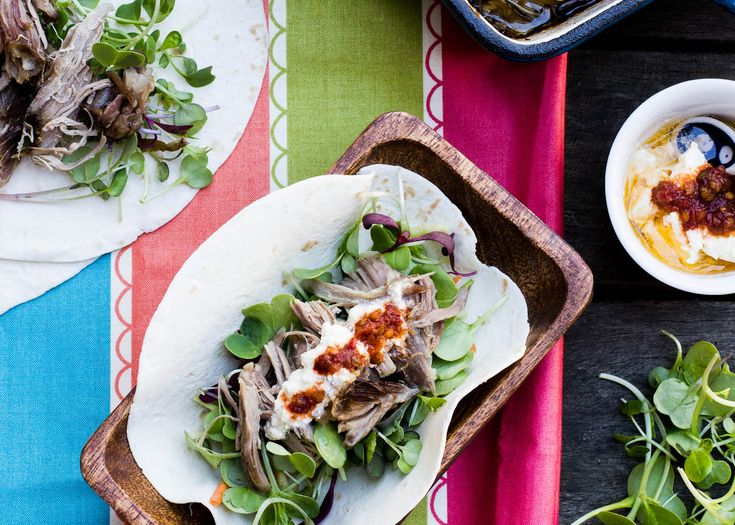 leftover roast meat tacos   be sure to serve everything separately at the table to make taco night a shared experience!