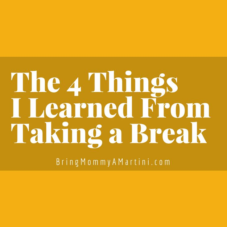 Just came off a writing hiatus and the break helped me focus better than ever before.  www.kristanbraziel.com/blog/2017/11/12/the-4-things-i-learned-from-taking-a-break  #BringMommyAMartini #momblogger #parenting #writing #amwriting