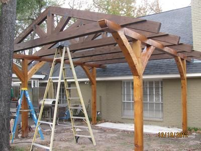 10 images about post beam roof on pinterest house for Gazebo construction details