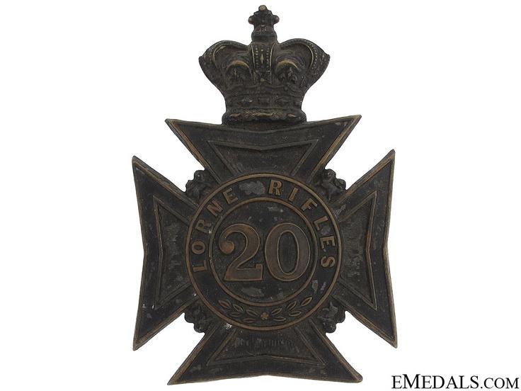 Lorne Rifles Militia Helmet Plate | eMedals