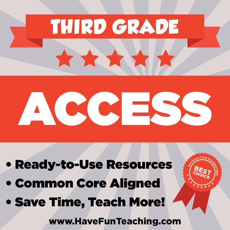 With Third Grade Access, you will have instant access to daily teaching resources, lesson plans, worksheets, activities, songs, videos, and common core materials.