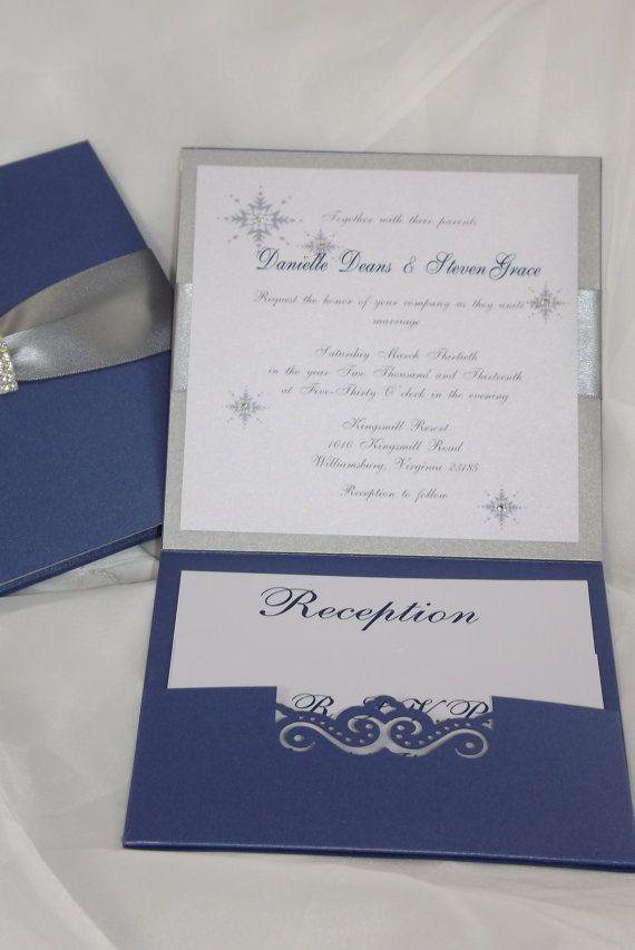 sapphire wedding anniversary invitations%0A Wedding Invitation  Royal Blue and Silver Wedding Invitation  Wonderland  Invitation Couture wedding invitation