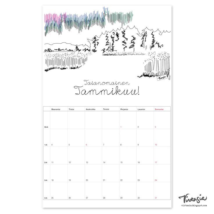 Ilmainen tulostettava tammikuun seinäkalenteri #ilmainen #tulostettava #kalenteri #free #print #calendar #January http://virtasia.blogspot.fi/2015/12/tammikuun-2016-tulostettava.html