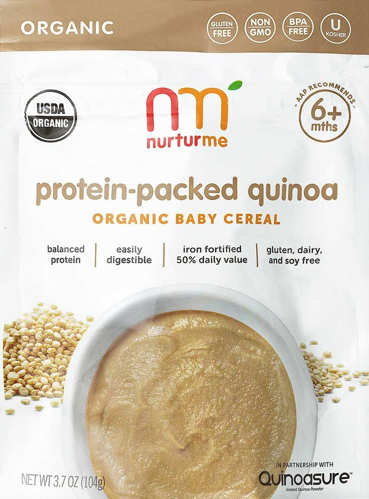 My little guy LOVES this as an alternative to rice cereal. I thought we'd skip cereals but he prefers new flavors to be diluted a bit and I'm happy he's getting the protein! Quinoa Organic Baby Cereal | NurturMe