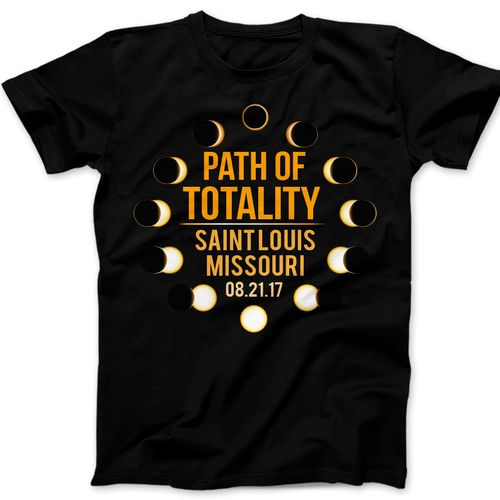 Path of Totality Solar Eclipse 2017 t-shirt