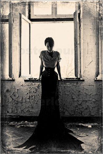 Poster Die Frau am Fenster