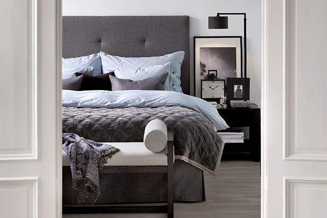 En sniktitt inn i Camilla Pihl sitt komfortable soverom. Gavl og sengekappe kan leveres i en mange...