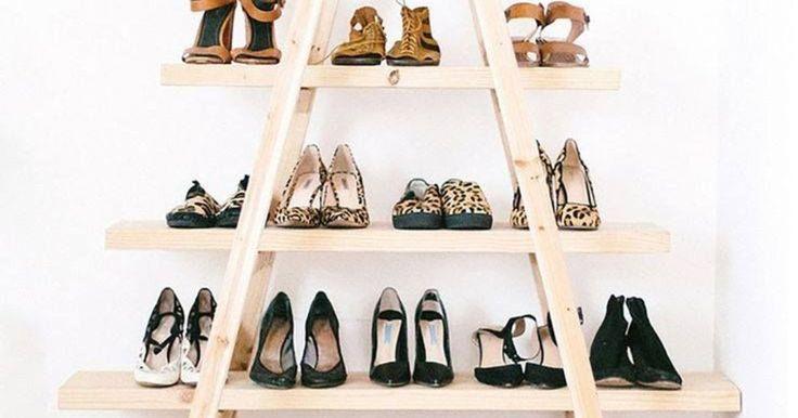 Wie een grote schoenencollectie heeft, kan erover meespreken: waar moet je al dat schoeisel kwijt? Een schoenenkast is een oplossing, maar je kan het ook origineler aanpakken. Met een ladder!