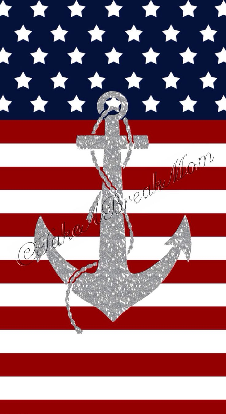 iPhone5 USA Flag Wallpaper with sliver glitter anchor! I had so much fun designing this wallpaper. The background took a bit but was worth it! I will be sharing this in my blog soon WITHOUT the watermark for those interested. (Http:// takeabreakmomBLOG. wordpress. com) this is my temp. web home while my site is under construction :)   (iPhone, freedom, July 4th, red, white, blue, Independence Day, fireworks, anchors, summer, star)