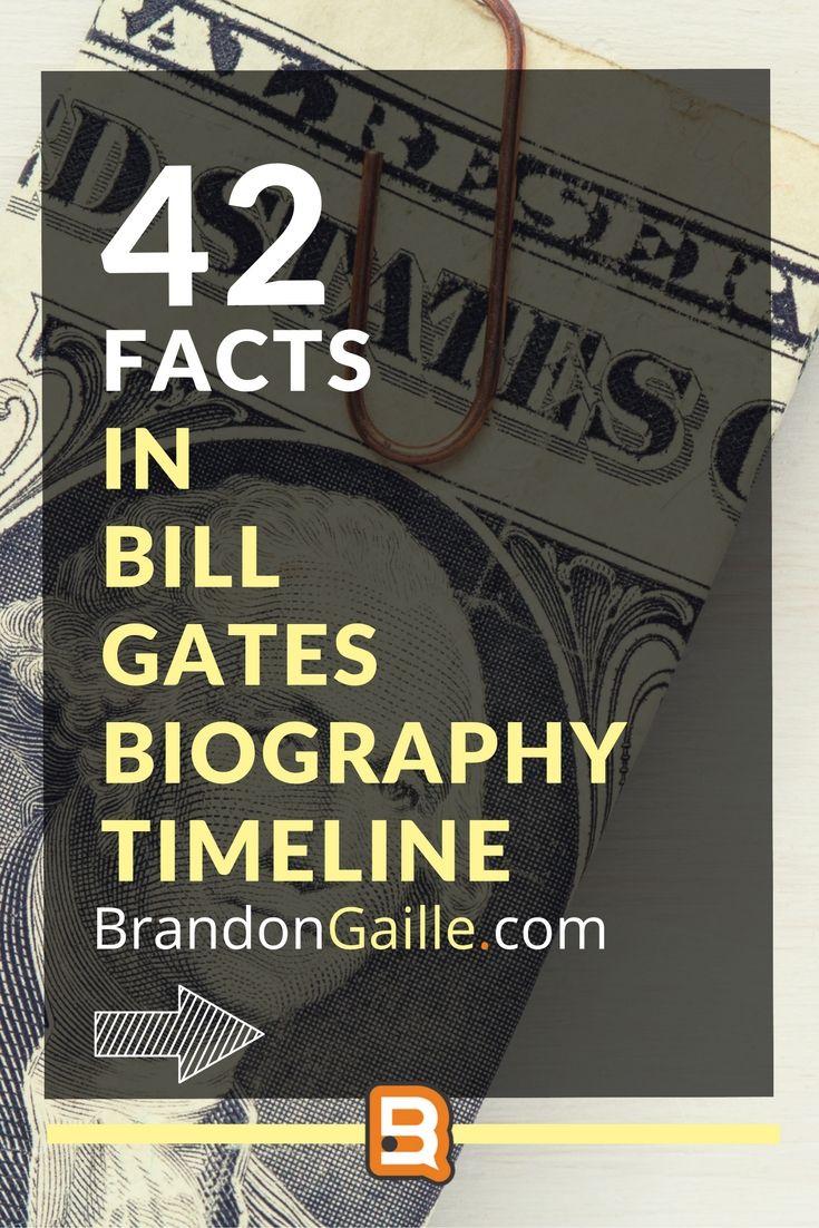Bill Gates Biography Timeline