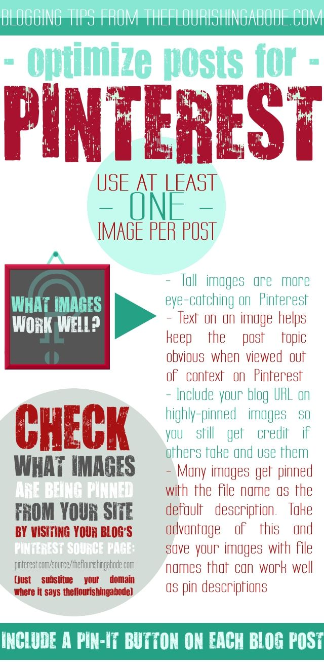 Tips to Optimize Your Blog Posts for Sharing on Pinterest