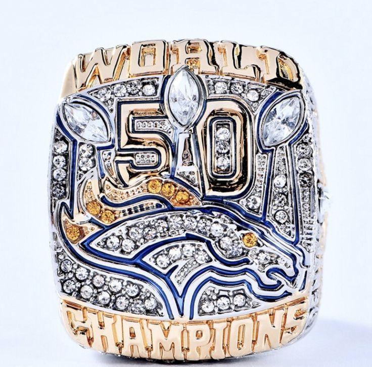 10K Denver Broncos Super Bowl 50 Championship Ring-MILLER-