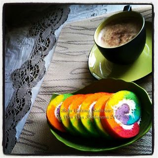 Gilby's Cake and Cookies: Bolu Gulung Rainbow