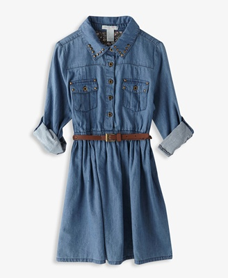Studded Chambray Shirtdress | FOREVER21   I wish this was longer!!