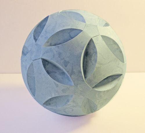 Blue Paper Sphere by Carlos N. Molina - Paper Art, via Flickr