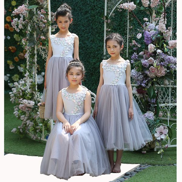 Cheap Hot 2017 Cutestyles Long Flower Girl Dresses For Weddings Lavender Flower Party Dress For Teenager Girls Kids Clothing As Low As $65.93, Also Buy Long Dresses Black Dresses From Aijiayi| Dhgate Mobile