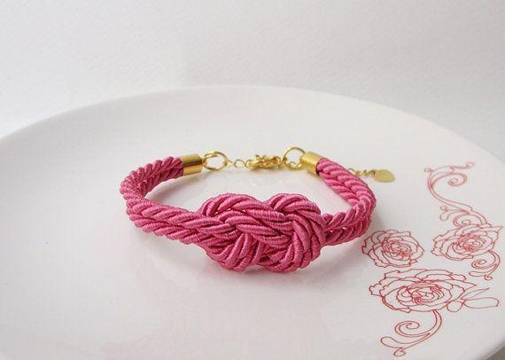 nautische armband infinity armband hete roze stropdas de