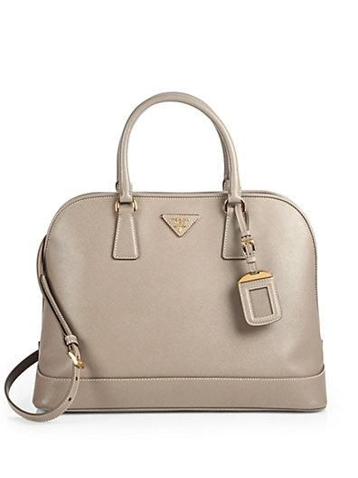 Prada Handbag Classic Lines Elegant Features And The Go With Anything Neutral Color Accessories Pinterest Bags Saffiano