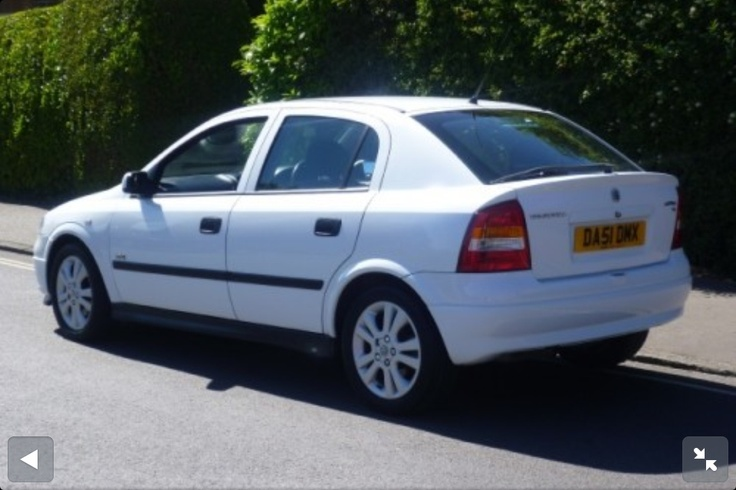 2001 White Opel Astra. First company car & I loved the black leather interior.