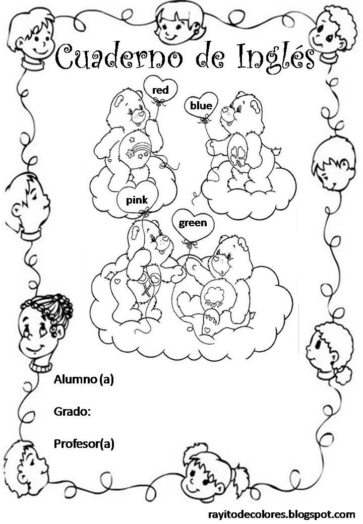Hi guys! Ups...Spanglish... Es que justo saqué mi cuaderno de inglés para embelleserlo con esta linda carátula súper cute de ositos cariñositos!  #Cute A...
